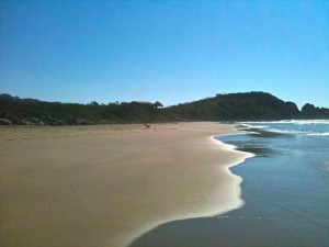 surfing vacation rental, Private Beach @Troncones