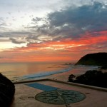 surfing vacation rental, Yoga deck complete with full sunset and ocean view